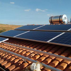 03 - Instalação dos módulos fotovoltaicos - 14 x 310Wp Trina Solar