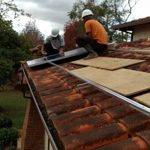 Início da instalação dos Módulos Fotovoltaicos